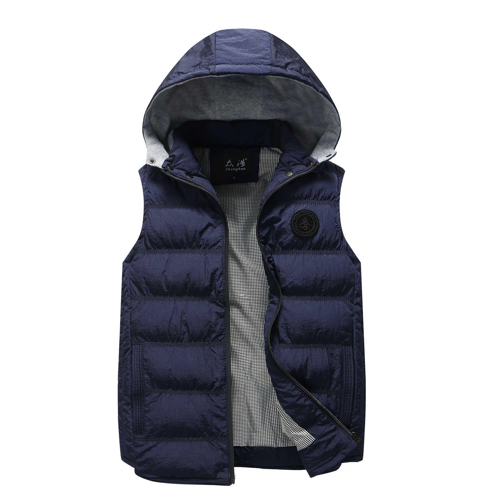 Вниз осенью и зима с капюшоном теплый молодежный модный мужской жилет Горячая распродажа