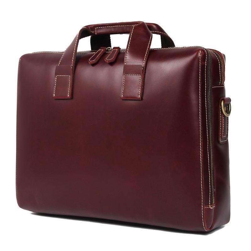 Briefcases Luxury Italian Genuine Pelle Briefcase da uomo Biglietto da Business Business Bag Laptop Uomo Spalla Messenger Tote Borsa