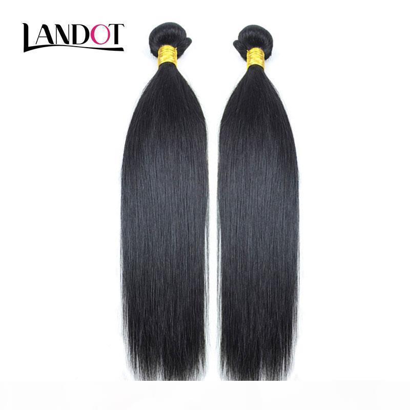2 связки перуанский малазийский индийский бразильский девственница человеческих волос плетение шелковистые прямые дешевые необработанные 8a Remy наращивание волос натуральный черный