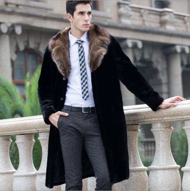 FUR FUR FAUX POUR HOMME JAQUETA DE COURO MASCULINA 2021 Manteau d'hiver Collier de roulement PLUS PLUS Taille Vestes formelles de style long XL672