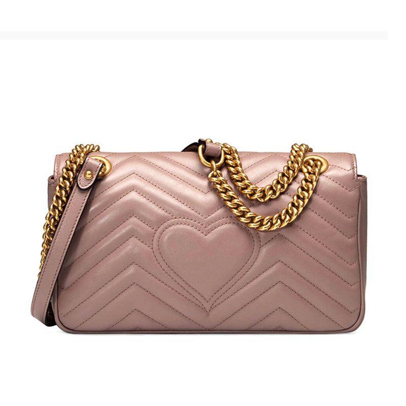 Marmont Luxurys Hot Borse Borse Genuine Borse Bady Catena Designer Womens QDGA Crossbody Pattern Lady Love Solds Borse in pelle 20 JJQI