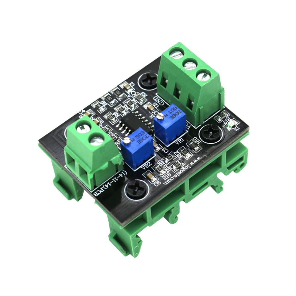 Current To Voltage Module 4-20mA To 0-10V Isolation Signal Converter With Green Base