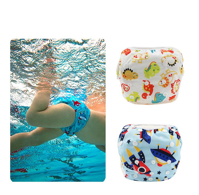17 Colors Unisex free Size Waterproof Adjustable Swim Diaper Pool Pant Swim Diaper Baby Reusable Washable Pool Diaper M3048