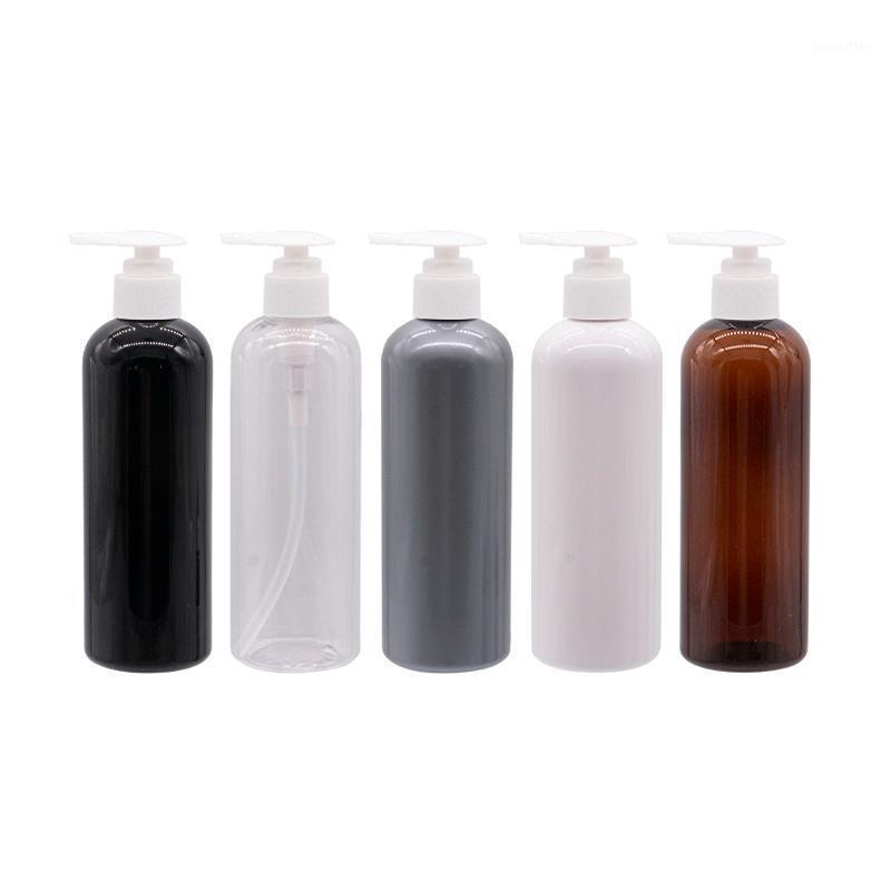 Botella de bomba de crema de loción de cuidados personales de 300 ml, bomba de botella de contenedor de contenedor de contenedor blanco negro 10 Oz Paquete de cosméticos1