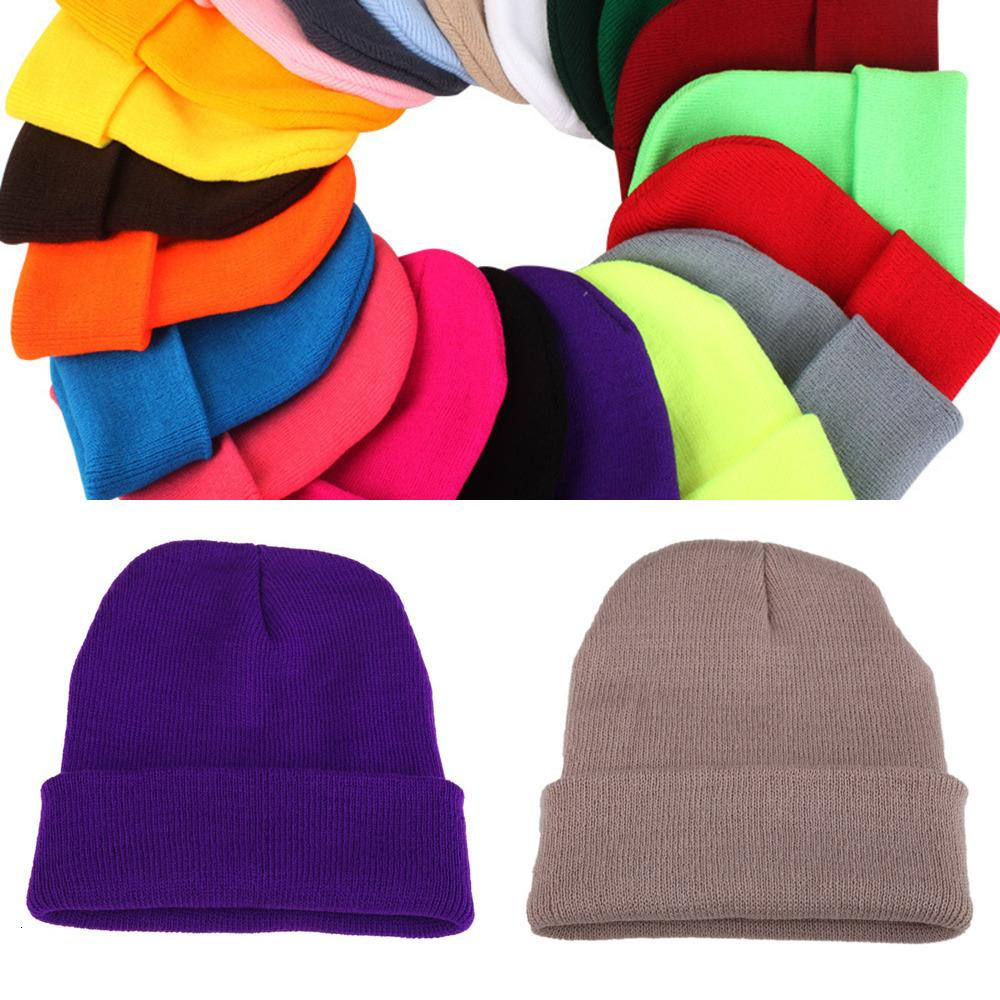 Quality High Winter Plain Dyed Custom Hat 100% Acrylic Warm Knitted Beanie X7E1