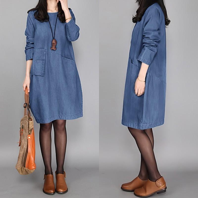 Женское повседневное платье рубашки Zanzea 2020 мода Sundress с длинным рукавом джинсовые голубые достопримечательности женские кнопки длиной до колена халат негабаритных y0118