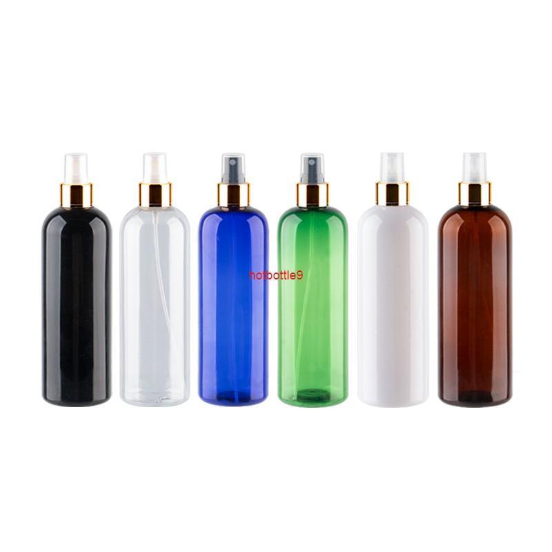 500ml recarregável névoa plástica spray frascos de perfume para tamanho líquido tamanho grande recipientes de pet finais garrafa de embalagem 15pcs / loterpls