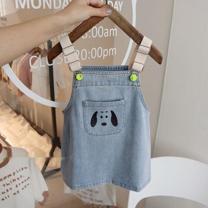 cRmb9 denim sangle girlsjumpsuit 2020 printemps et en été nouveaux clothingclothes bébé jupe denim sangle bébé clothingclothes 2020 été et au printemps