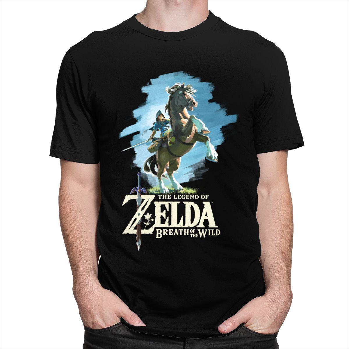 Sport Fashion Legend of Zelda maglietta degli uomini di cotone degli anni '80 Elegante Videogiochi maglietta maniche corte di collegamento del selvaggio Tee Tops Abbigliamento regalo