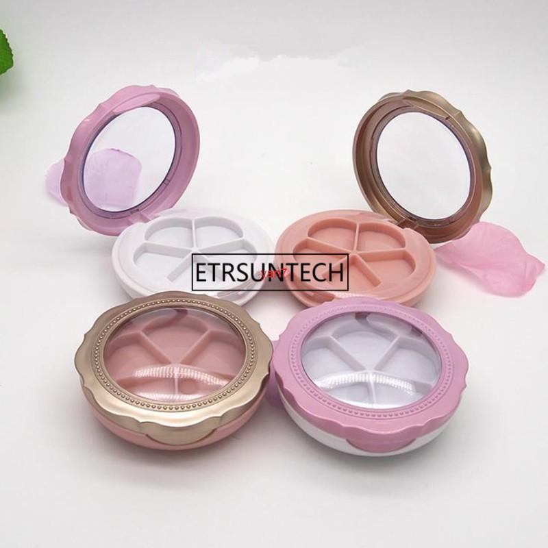 5 Сетка Двухэтажный цветок лепесток тень для глаз / Blusher / для лица кремовая упаковка с алюминиевой пластиной F1957Good Qualtitygood Shopping