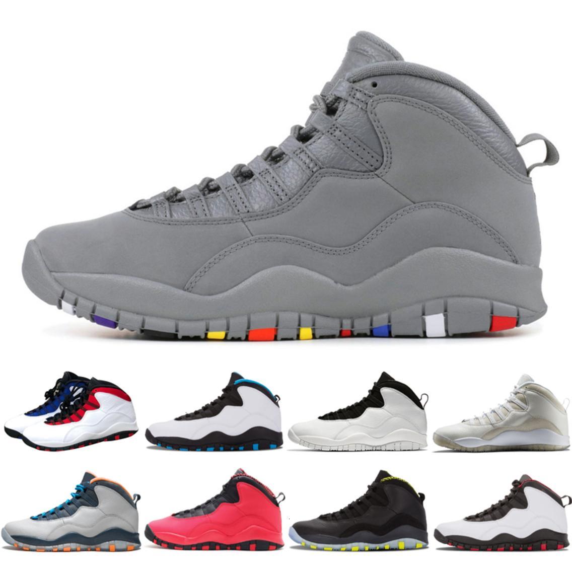 Tinker 10 10s Zement Westbrook Klasse von 2006 Männer Basketballschuhe Weiß Schwarz Stahl grau Chicago Pow Nakeskin Sneaker