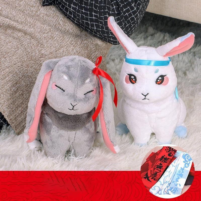 Mo Dao Zu Shi Peluş Bebek Peluche Kawaii Tavşan Doldurulmuş Hayvan Wei Wu Xian Lan Wang Ji Pet Oyuncak çocuklar Doğum Günü Hediyeleri Peluş Oyuncak 1011 için
