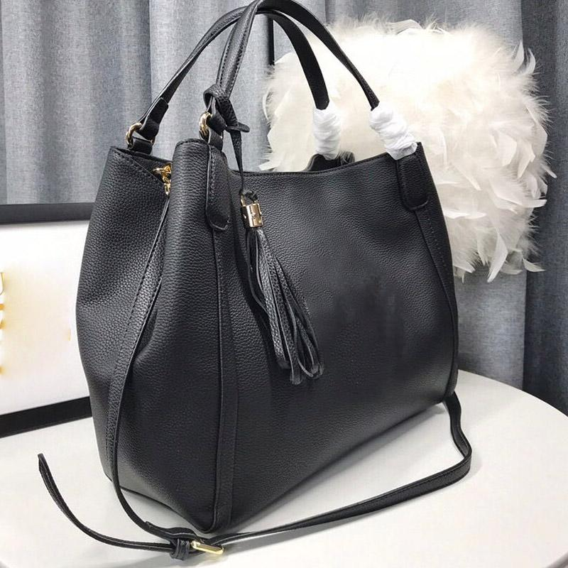 Famosos bolsos de bolsas para mujer Bolsos grandes de cuero Lujos de cuero Handbag 3 colores Interior Zipper Designers Lether Nombre 2021 B Fopet