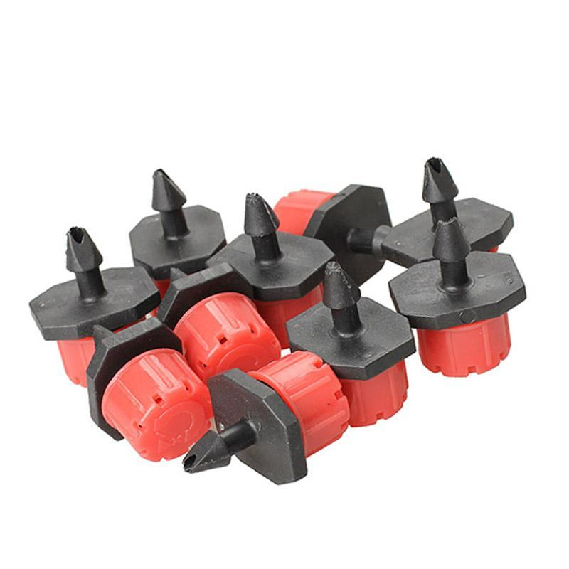 Watering Equipments 50pcs Micro Flow Dripper Drip Head 1/4 Inch Hose Garden Irrigation Misting Tool YU-Home