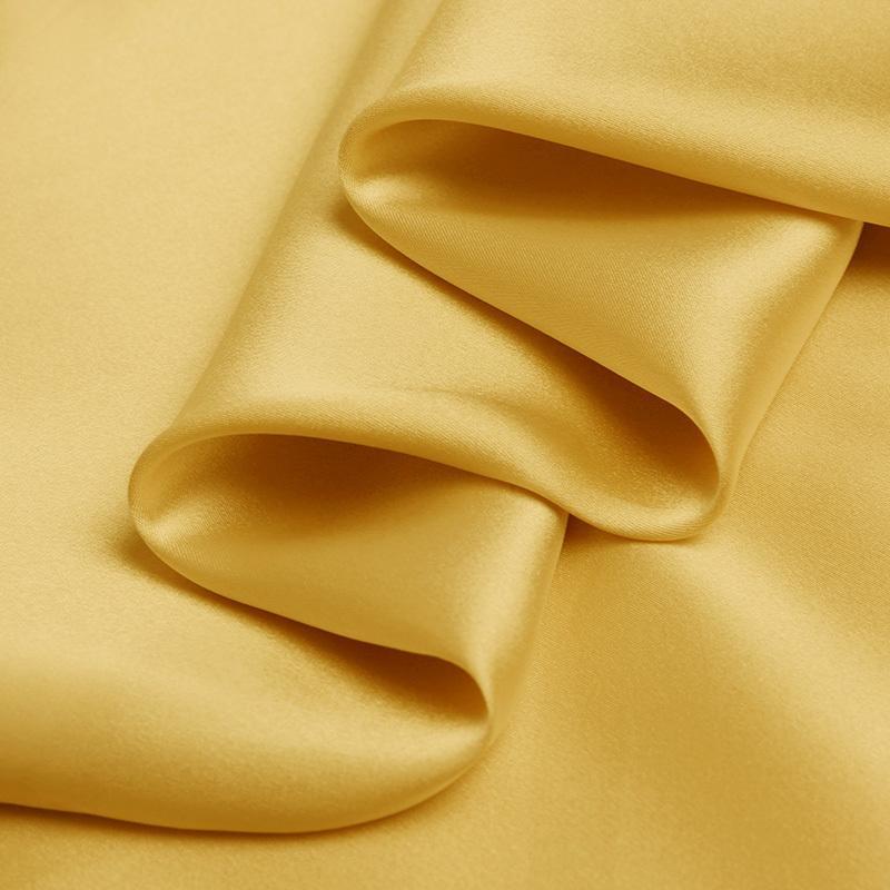 """soirée robe de soie charmeuse pur satin de soie de 16 mm 114cm (45"""" ) largeur terre jaune pour rubans pyjama No.08"""