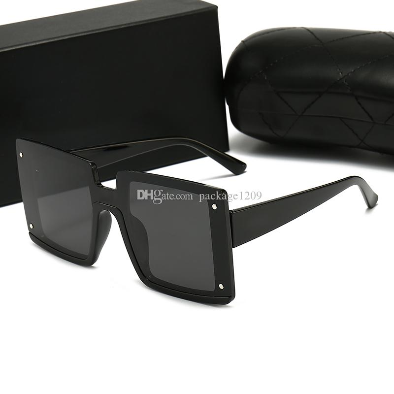Femininos Populares Moda Quadrado Estilo Verão Quadro Completo Qualidade UV Luxurys Protection Designers Sunglasses Color misto vêm com caixa