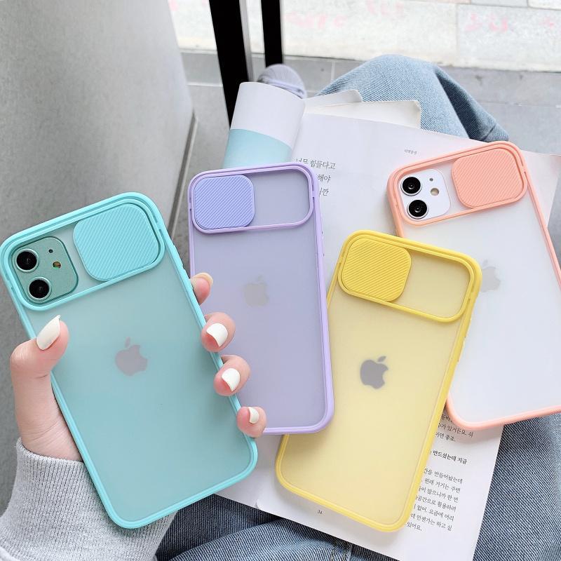 휴대 전화 케이스 카메라 렌즈 iPhone 11 12 Pro Max 8 7 Plus XR X XS SE 색상 캔디 소프트 커버
