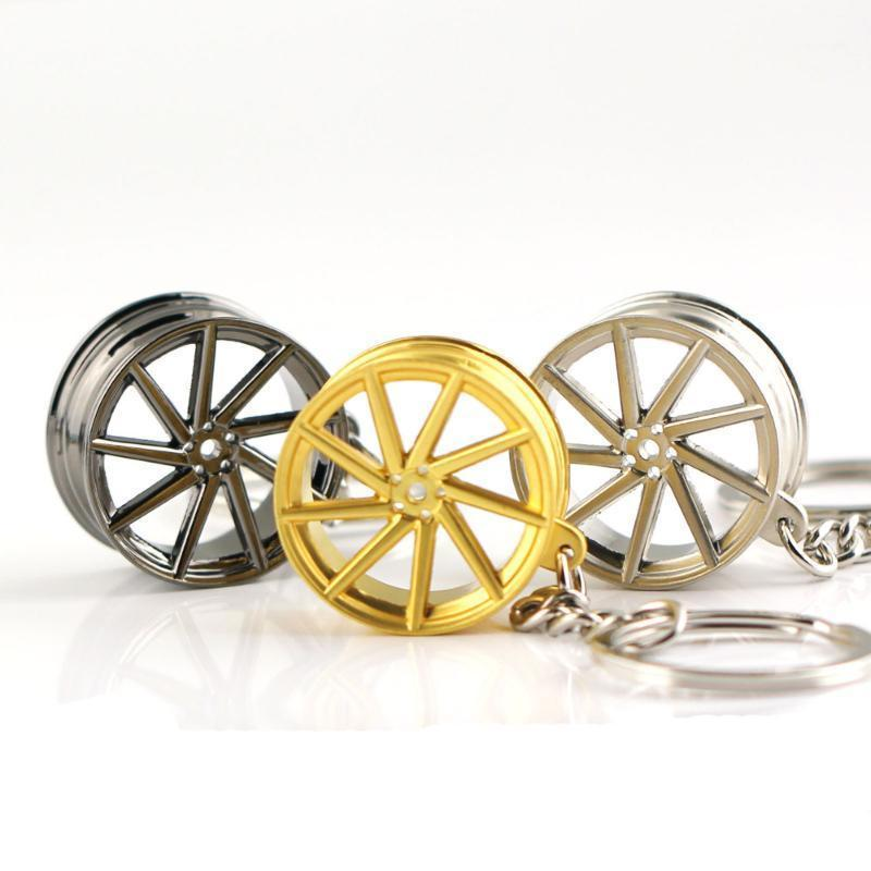 VOSSEN Wheel Rim Model Keychain Creative Accessories Auto Part Car Keyring Key Chain Ring Keyfob Key Holder1