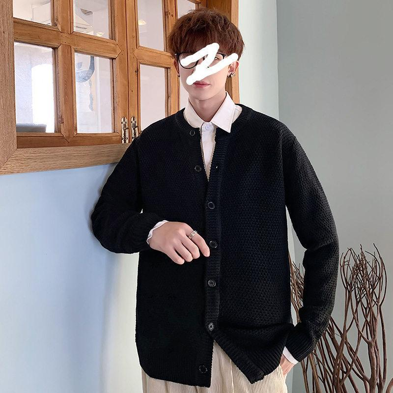 Mens Knit Coats Inverno para coreano Moda Tendências Cardigan Botão Oversized camisola Crewneck Harajuku Streetwear Vintage Clothing