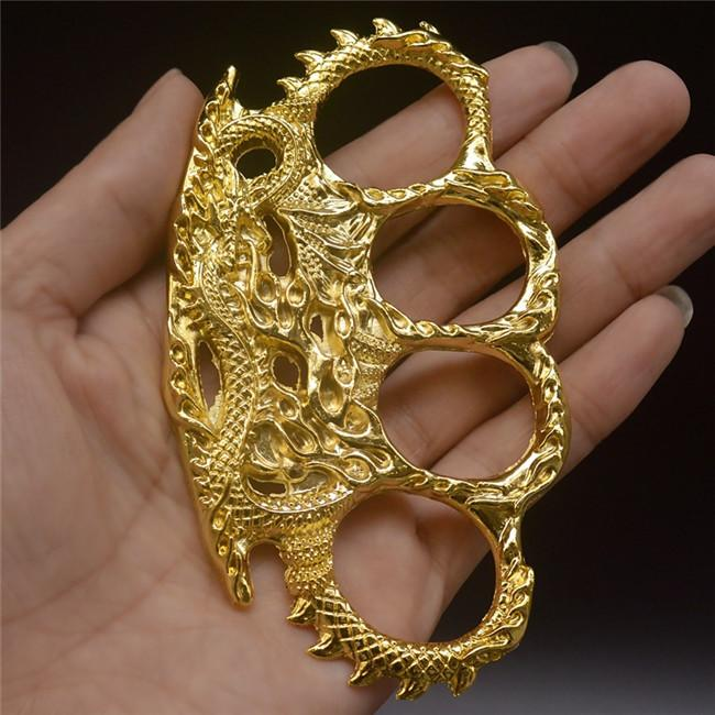 Finger tiger iron four fingers clasp hand clasp fist clasp defensive tiger finger tiger glove legal self-defense weapon hand support four ri
