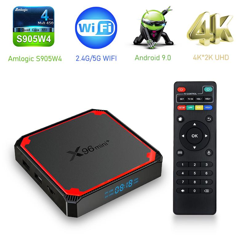 X96 Mini Plus Amlogic S905W4 Android 9,0 TV Box 2GB 16 Go Dual WiFi 5G 4K Joueur MEDI