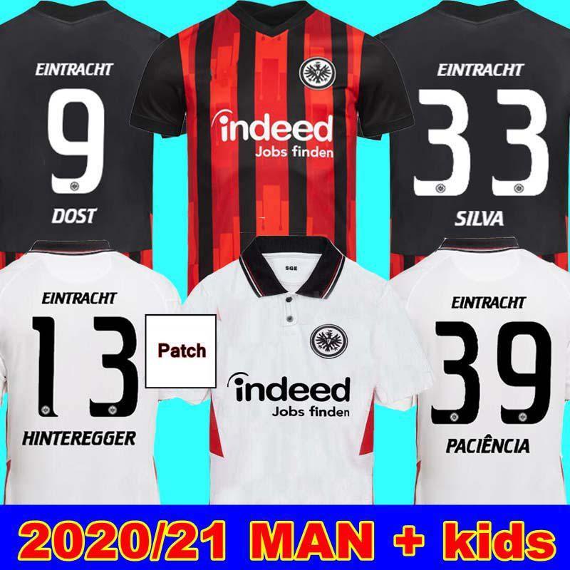 20 21 Eintracht فرانكفورت لكرة القدم الفانيلة 2020 2021 فرانكفورت المنزل بعيدا سيلفا دوست هينتيريججر paciência أبراهام رجل الاطفال لكرة القدم الفانيلة