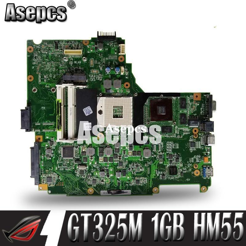 Asepcs N61JV Laptop motherboard For Asus N61JV N61J Test original mainboard GT325M 1GB HM55