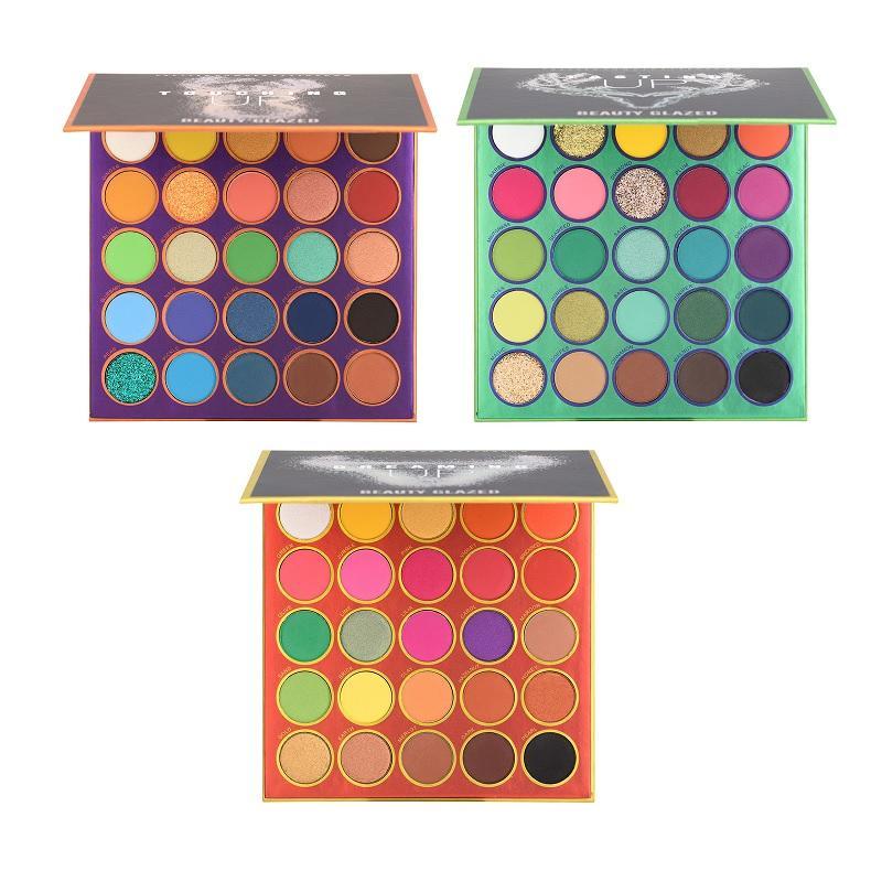 Beauty vitré 25 couleur palette de paupières maquillée maquillage cosmétique mighte mat poileur mate nacré ombre oculaire maquillage