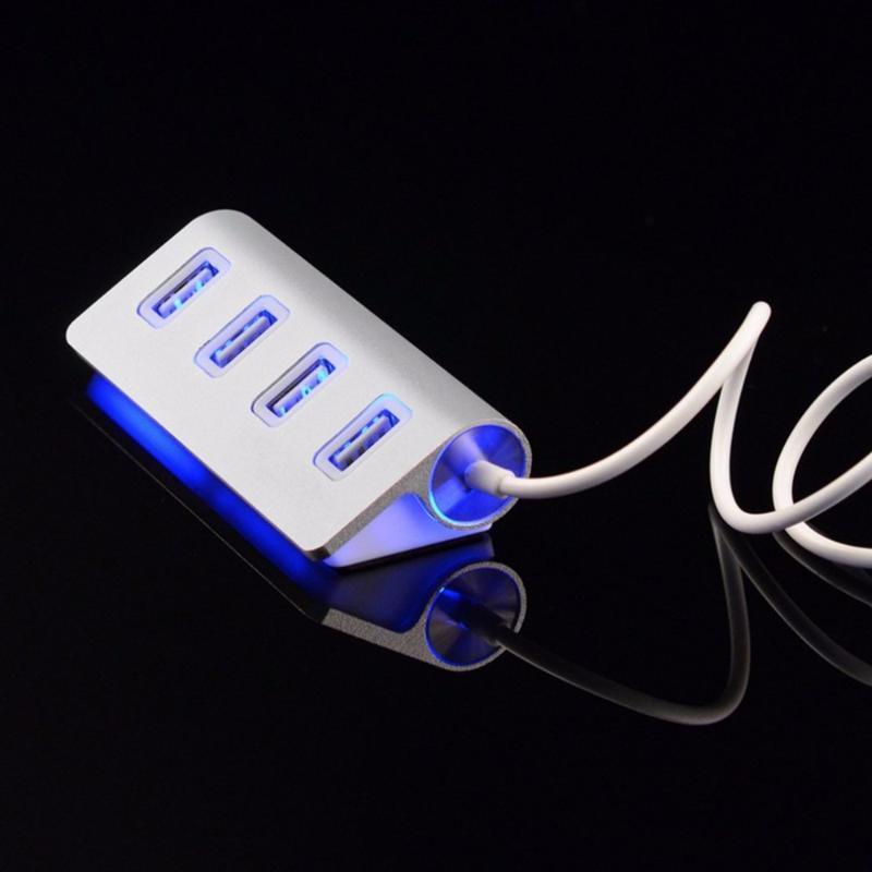 La alta calidad llevó 2.0 HUB divisor del adaptador del ordenador portátil con el cable para el PC 2020 nuevo mini HUB de 4 puertos USB de alta velocidad