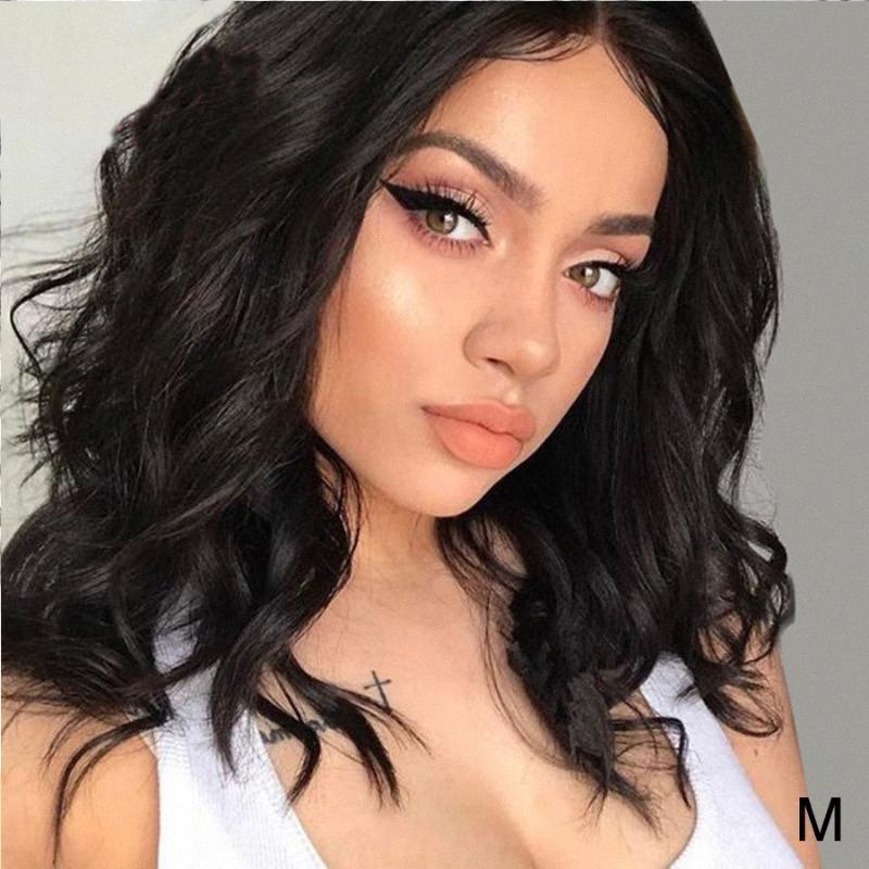 13 * 4 Pizzo frontale Capelli corti Human Wig per le donne Tranparent Lace Glueless onda Ombre corpo Evidenziare capelli colorati capelli brasiliani 5qfd #