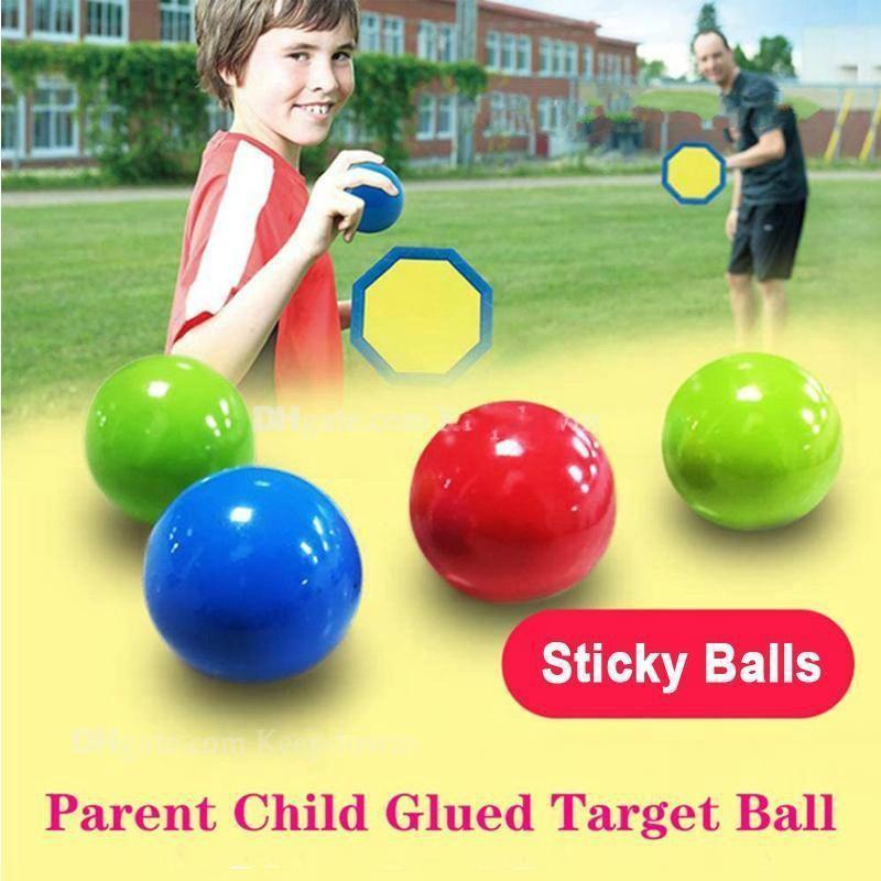 빛나는 천장 공 스트레스 릴리프 스티커 볼 접착제 대상 공 밤 조명 압축 해제 공을 천천히 짜기짜리 글로우 장난감 아이들을위한