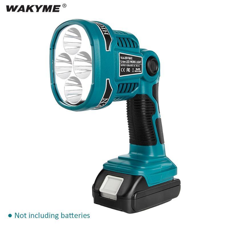 Lampe de travail à la lampe à lampe de travail à LED sans fil Camping en plein air Lampe de secours USB pour Bosch DML812 14.4 / 18V Li-ion Batterie