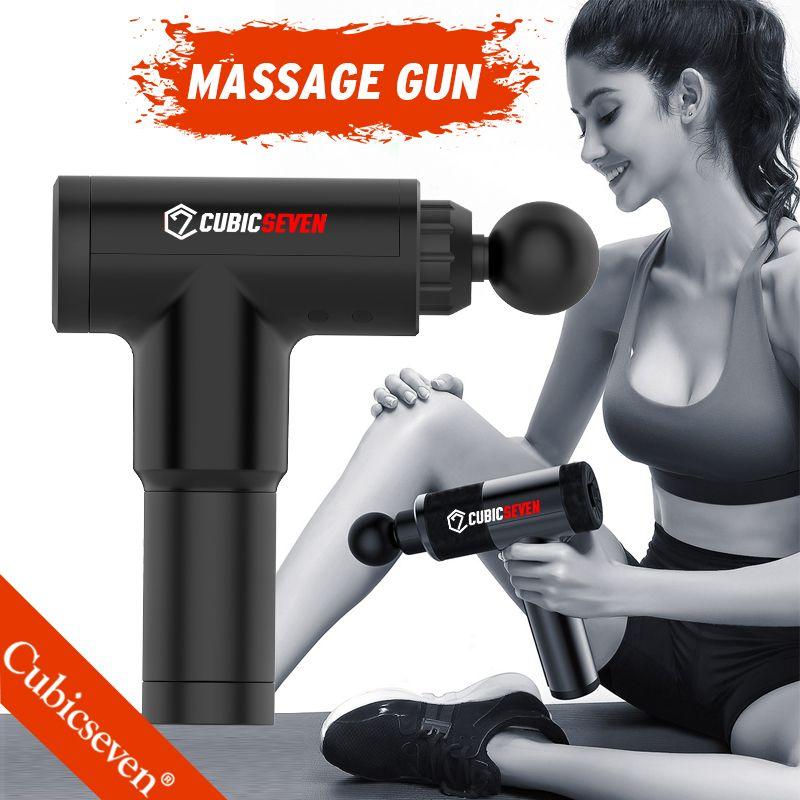 CUBICSEVEN® عالية التردد تدليك بندقية العضلات تدليك بندقية الرياضة العلاج مدلك الجسم الاسترخاء تخفيف آلام التخسيس تشكيل