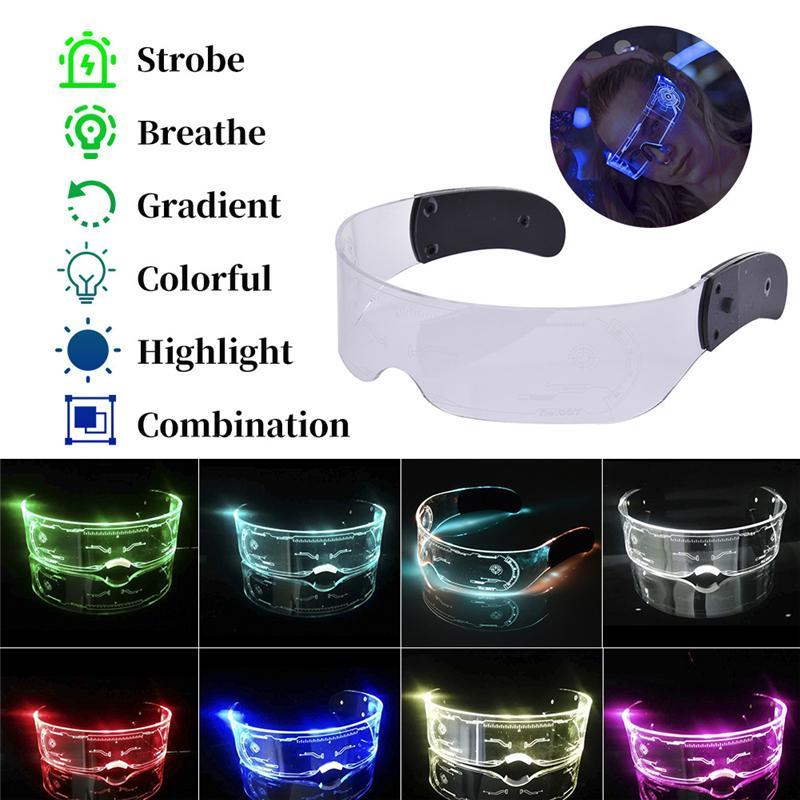 LED Luminous Glasses Christmas Party Bar Music Festival Dance Party Glasses Luminous Goggles Christmas Glasses Free Shipping