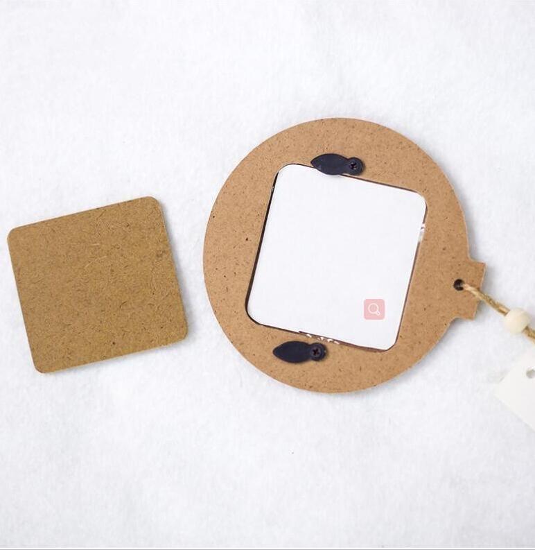 التسامي الخشب الإطار ديكورات الفراغات قلادة diy صور قلادة إطار الصورة خشبية هدايا عيد الميلاد شجرة عيد الميلاد زخرفة EEB4138