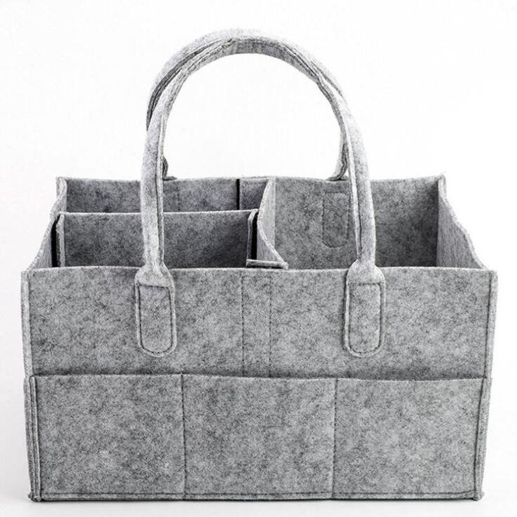 Baby Girl Bags Portable Хранение Подгузник Путешествия Мальчик LXL1235DXP Серый Младенческий Организатор Tote Сумка Новорожденный Внутренний Пояток Пеленки Автомобильная сумка Корзина SENJJ