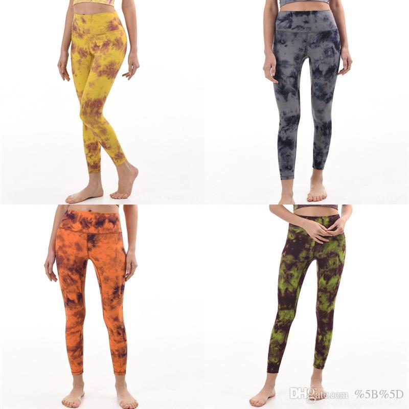 XPDR Pantalones de entrenamiento sólido LU-LEMOÑ Color Mujer High Cintura Deportes Gimnasio Desgaste Leggings Yoga Mujer Completa Fitness Elástico Fitness Señora General