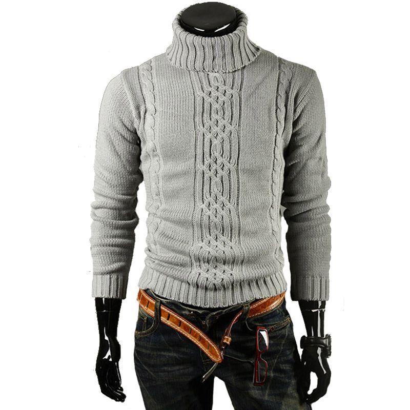 Pullover männliche Marke Casual Slim Truien EFFEN HIGH Revers Jacquard Hedging Herren Trui XXL Staa