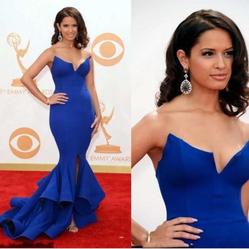 2021 simple royal blue plus size formal mermaid evening dresses robes de mariée prom dresses party wear