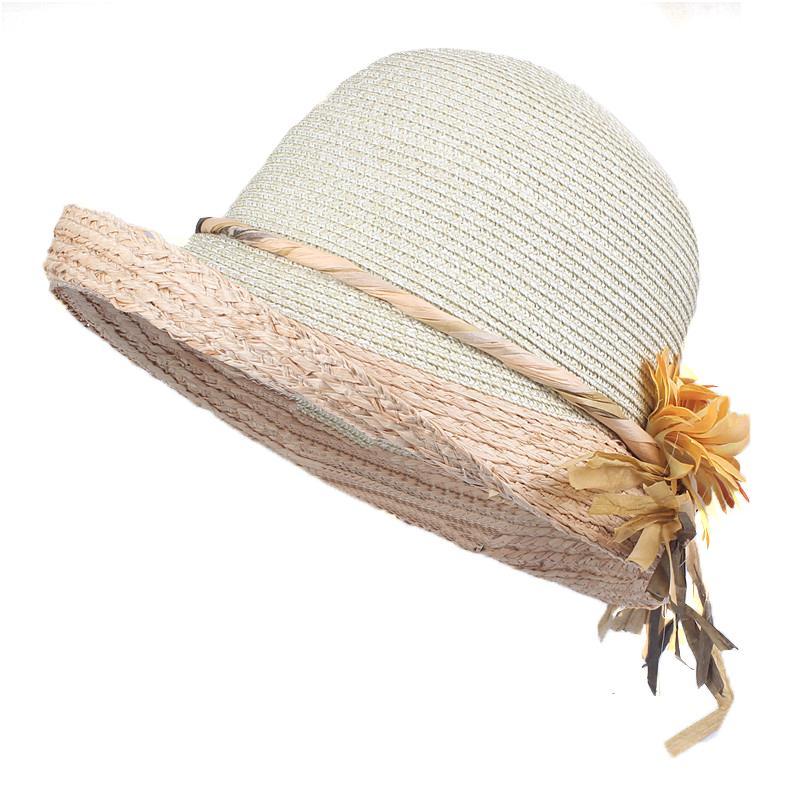 Xthree de buena calidad Mujeres de verano Rafia gorra de paja damas Big Brim Sun Forglbeach Hat lj201105