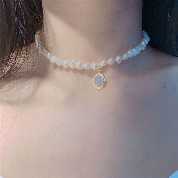 Femmes perle chaîne Collier strass Orbit collier pendentif pour bijoux Party Cadeau Accessoires de mode Haute Qualité