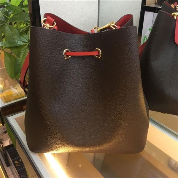 Известное плечо Неоновое сумочка Кожаный цветочный мешок дизайнерский кошелек ведра женщины 2020 печать мешки Noe Crossbody Mfflq