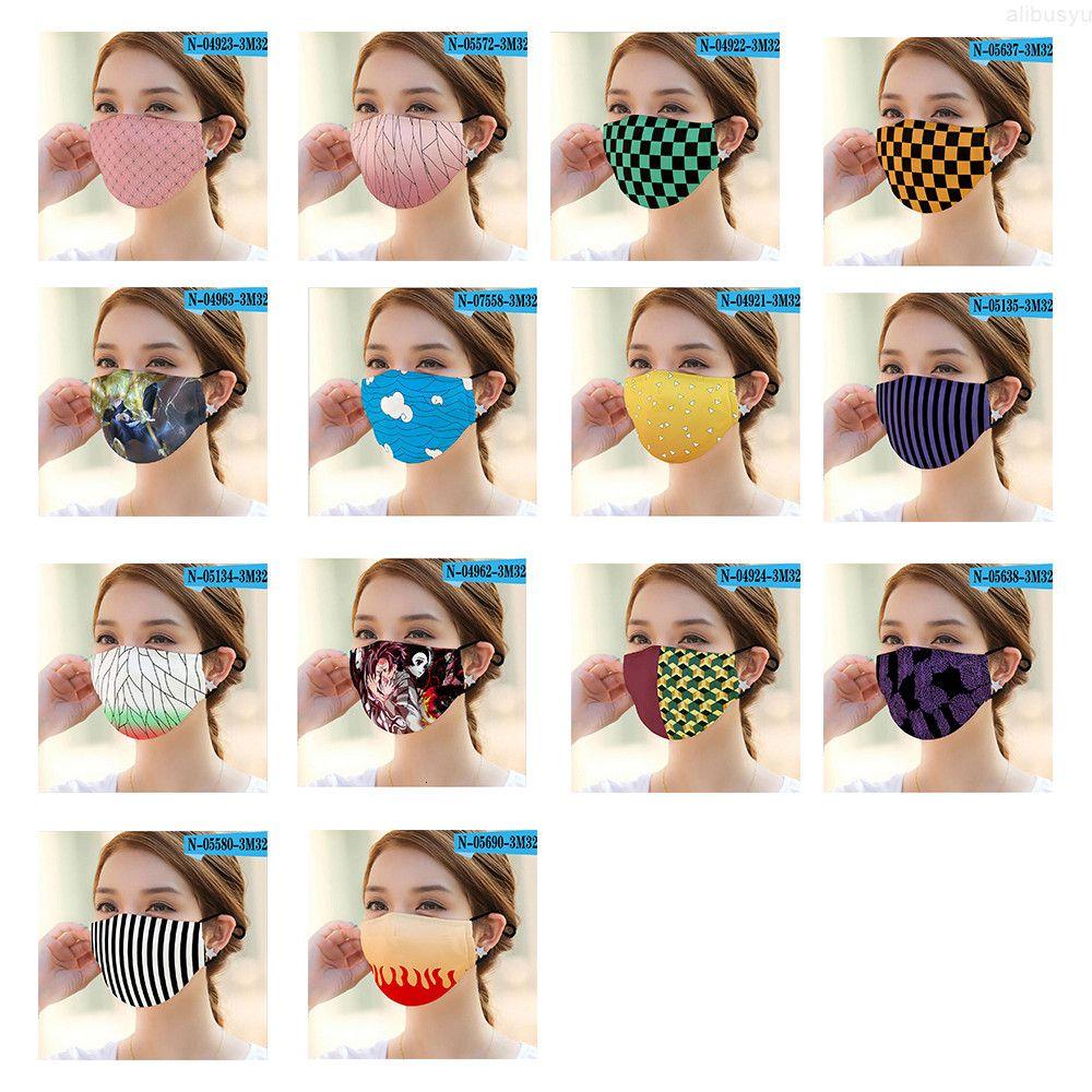 PM2.5 Waschbare weibliche bedruckte Gesichtsmaske wiederverwendbare bunte Druckdesigns aduts Masken staubdichte Anti-Staub-Nebel-Schutzmaske
