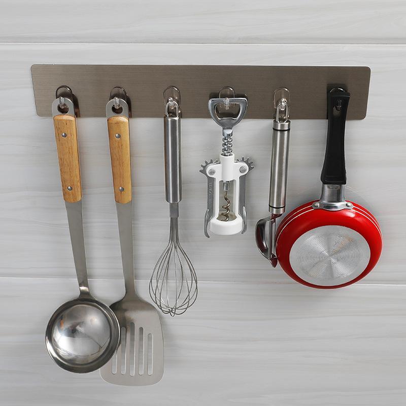 Cozinha à prova d'água e à prova de umidade e banheiro sem buracos, ganchos de ganchos pegajosos, grandes ganchos sem emenda de carga