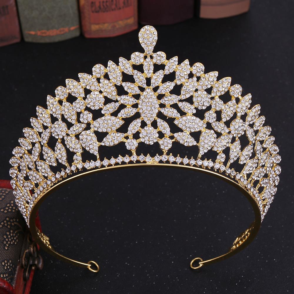Rhinestone Diadem Bridal Wedding Crown Bridal Crowns and Tiaras Headbands for Queen Head Jewelry Hair Accessories Pageant