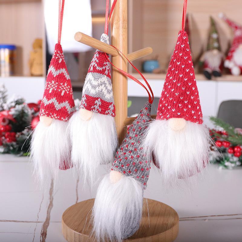 Décorations De Noël Beau Hanging Poilu mignon Faceless Doll Décorations de vacances cadeau Poupées Pendentifs Romantique Accessoires DHA1698