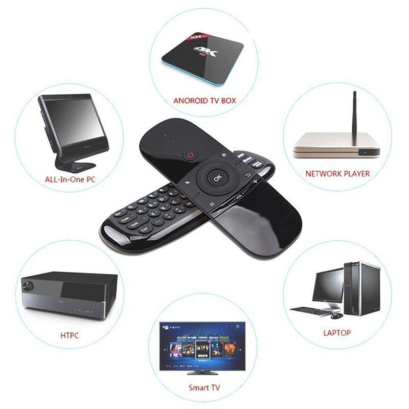 Air Mouse Wireless Keyboard 6-Axis di movimento Senso IR che impara telecomando w / USB per Smart TV di Android TV BOX 2.4G