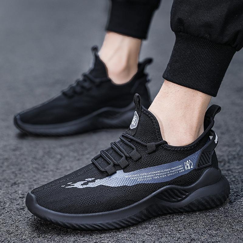 E0OVc 2020 automne nouveau mode casual maille chaussures de mode pour hommes respirant hommes volants chaussures de course tissés