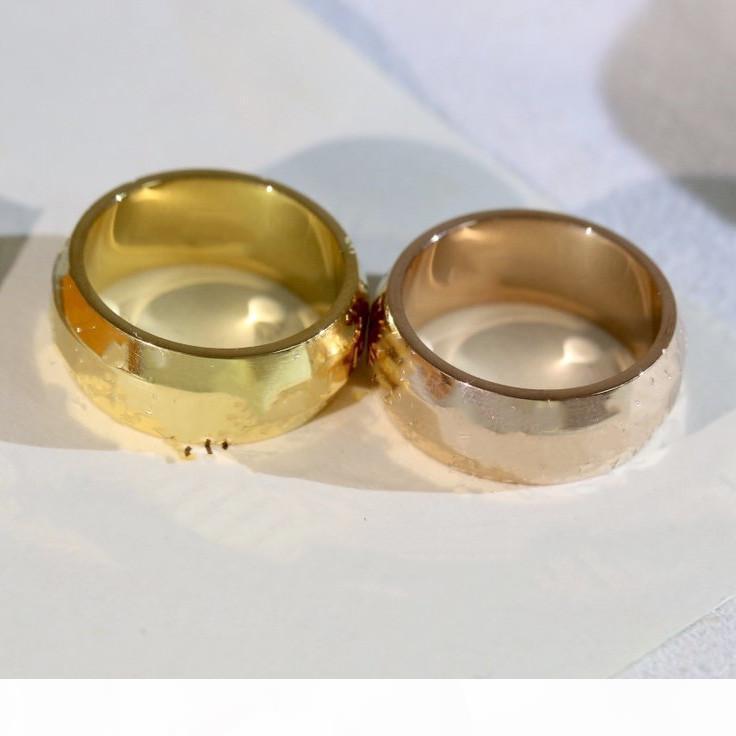 Vente chaude bague ovale bague d'impression de mode pour homme ou femme de la femme sonnerie de haute qualité bijoux en acier de titane