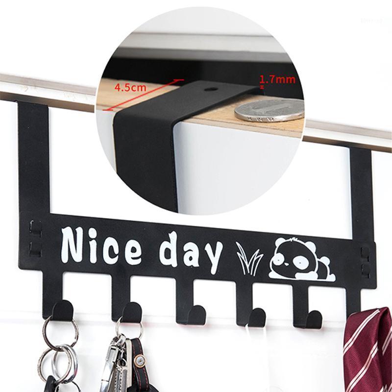 6 Storage Door Hanger Hook Bedroom Bathroom Rack Towel Hooks Coat Clothes Organizer Home Office Key Punch-Free Kitchen Tools1 Dmupk